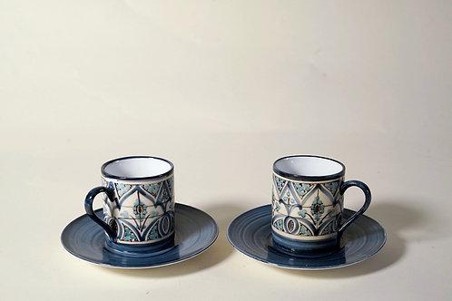 Espresso Cups & Saucers (set of 4)