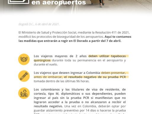 Principales modificaciones a los protocolos de bioseguridad en aeropuertos