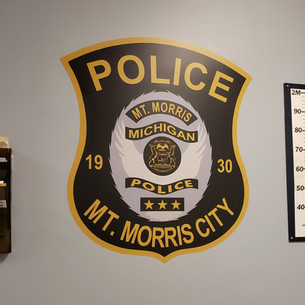 City of Mt. Morris Police Wall Graphic