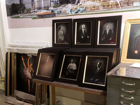 Look: Behind the scenes while preparing the portraits of the Notable People of San Antonio in 2020.