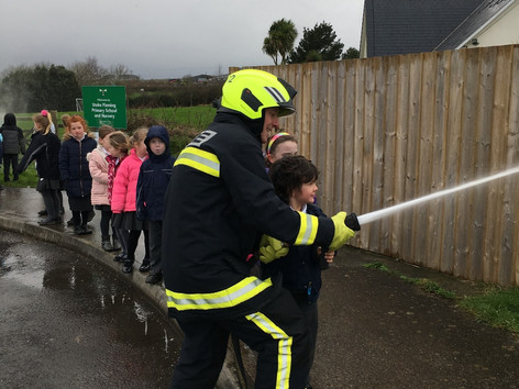 Class Challenger Fire Fighter visit