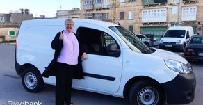 The Alfred Mizzi Foundation donates a van to Foodbank Lifeline & Gasan Mamo provide free Insurance