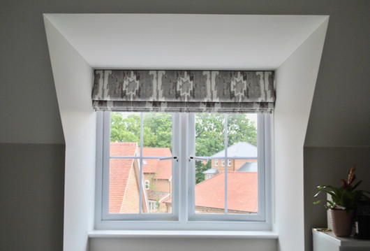 Marble roman blind inside of recess