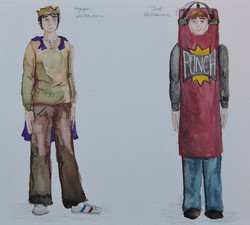 Hopper and Tad's Halloween Costumes