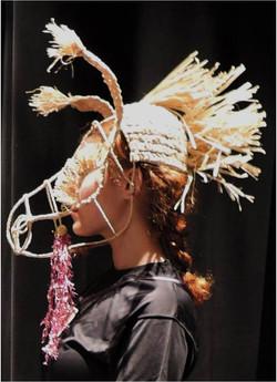 Wire and Raffia Donkey Headpiece