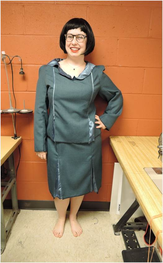 Final Fitting for Maria's skirt suit