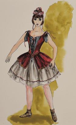 Design for 1890s Ballet Costume