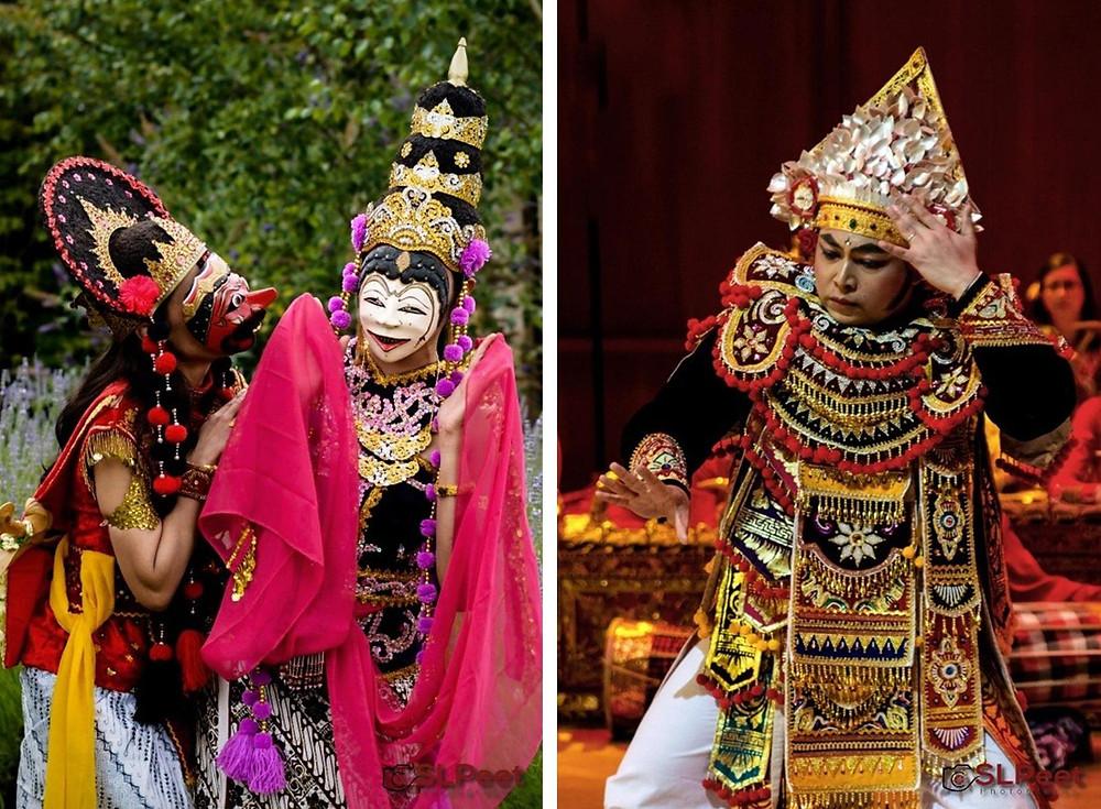 Tari Topeng Cirebon (L) Tari Baris Tunggal (R)- Copyright SLPeet Photography