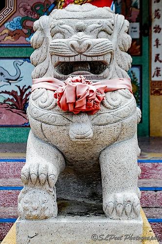 Stone Chinese Guardian Foo Dog, Thailand