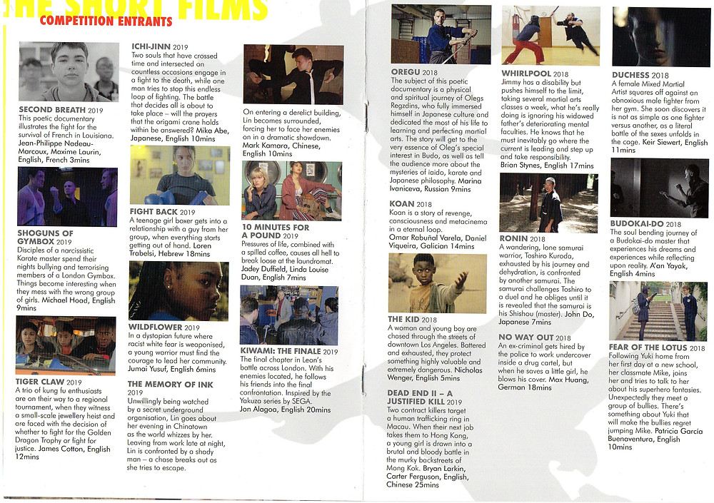 Fighting Spirit Film Festival 2019 Short Film listing