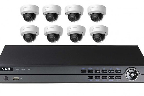 16CH NVR with 8 IP cameras Kit