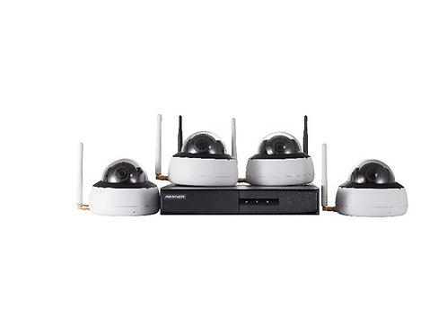 Wireless IP camera Kit with 4 Indoor Domes