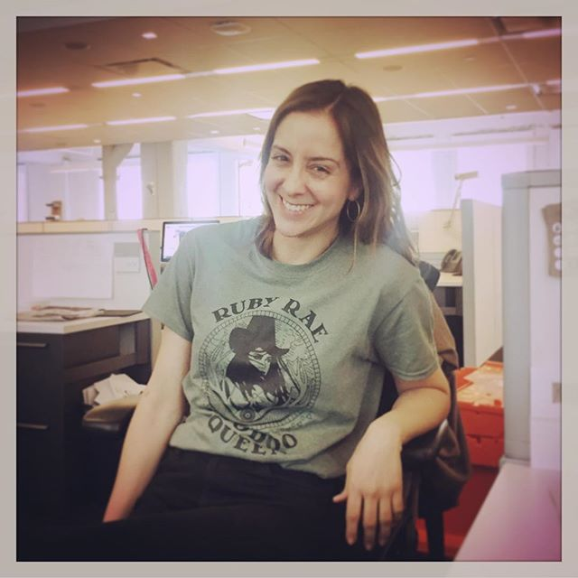 #tbt _lmo634 looking fabulous and working it in her Ruby Rae #voodooqueen t-shirt! Thanks Lauren! xo