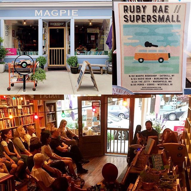 Day 1_ Catskill NY at Magpie Bookshop - lovely space and crowd! Photos by _magpiebookshop #voodooque