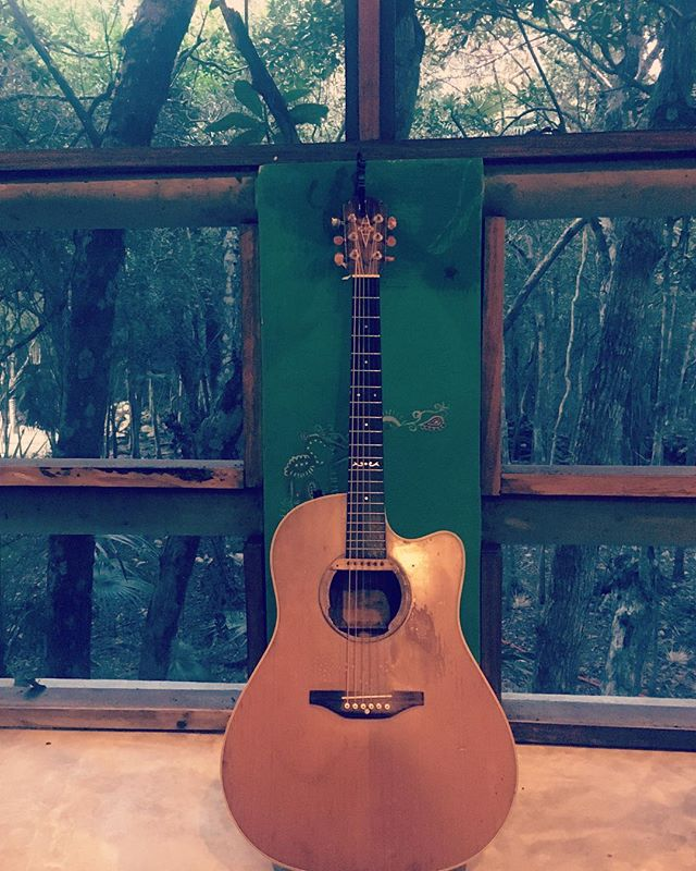 Practice in the jungle #rubyraemusic #rubyraetheuncanny #alvarezguitars #mexico