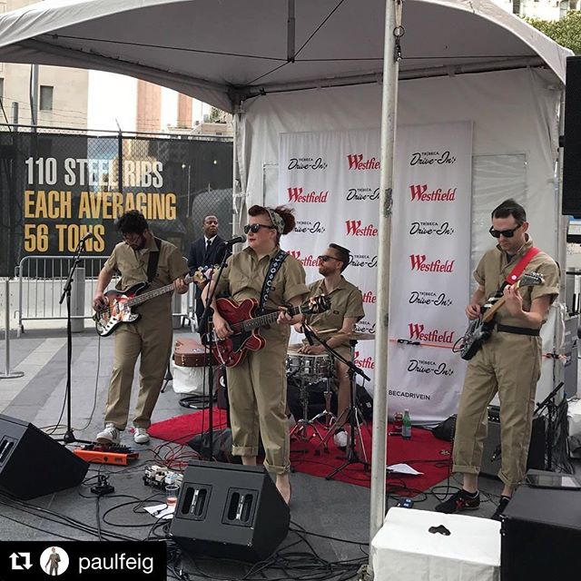 Thanks! We're big fans! #Repost _paulfeig ・・・_The great Ruby Rae playing for the crowd before the sc