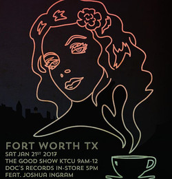 Thanks Dallas! You are awesome! Today we head to Fort Worth for some radio and records at #KTCU and