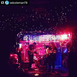Starry lights from last night's show at Hank's Saloon