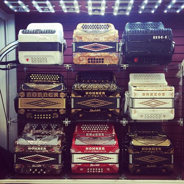 Wall of #accordions!