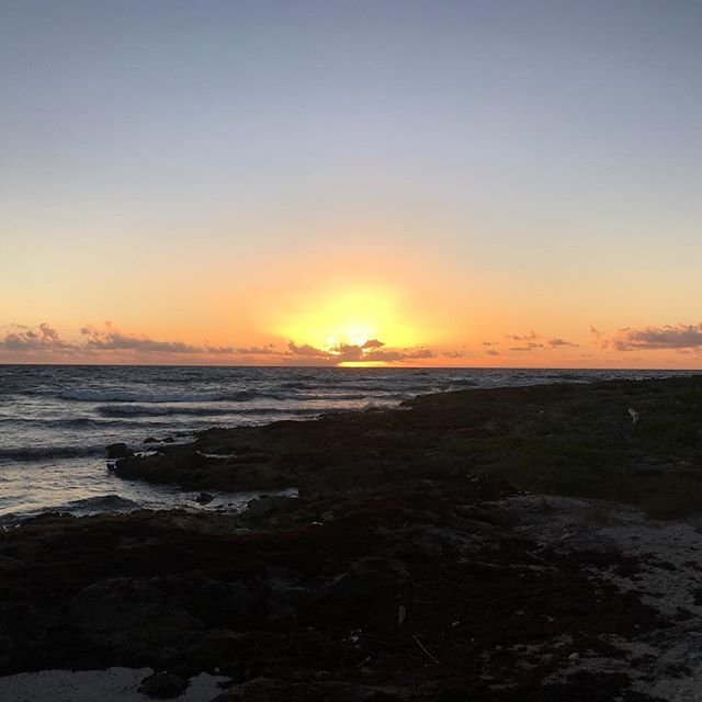 The last day at dawn in Akumal Mexico, s