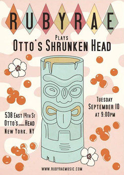 Playing Otto's Shrunken Head tonight, 9pm sharp!!