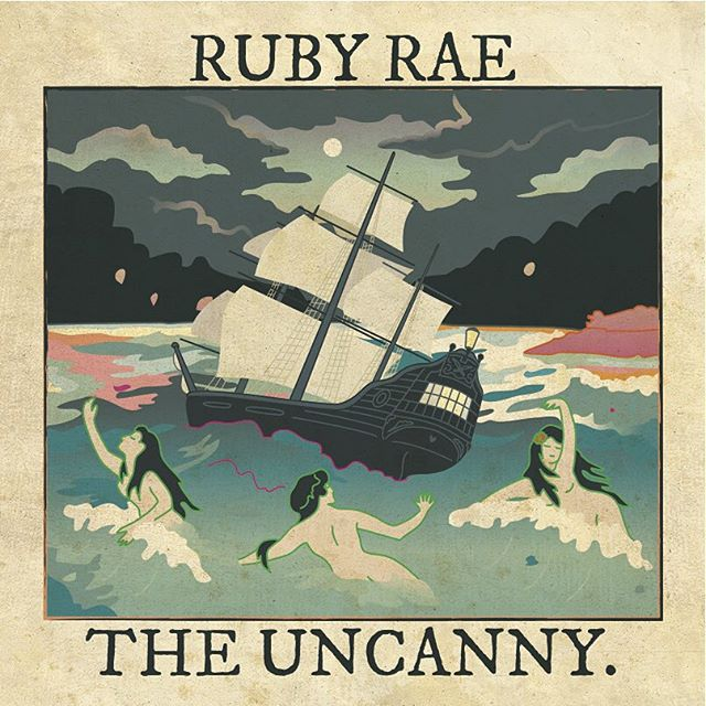 Introducing, the cover art for the new Ruby Rae record _The Uncanny_ by _kardyology!! #sirens #theun