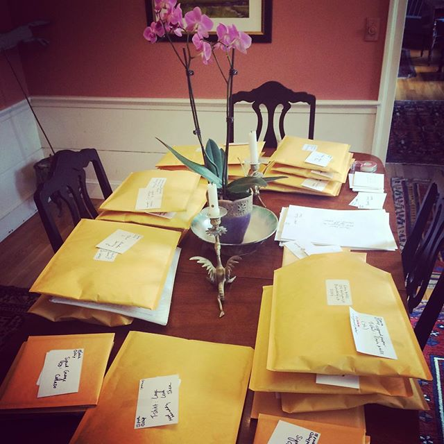 Working hard to send out the first batch of pledge gifts, and really grateful for everyone who helpe