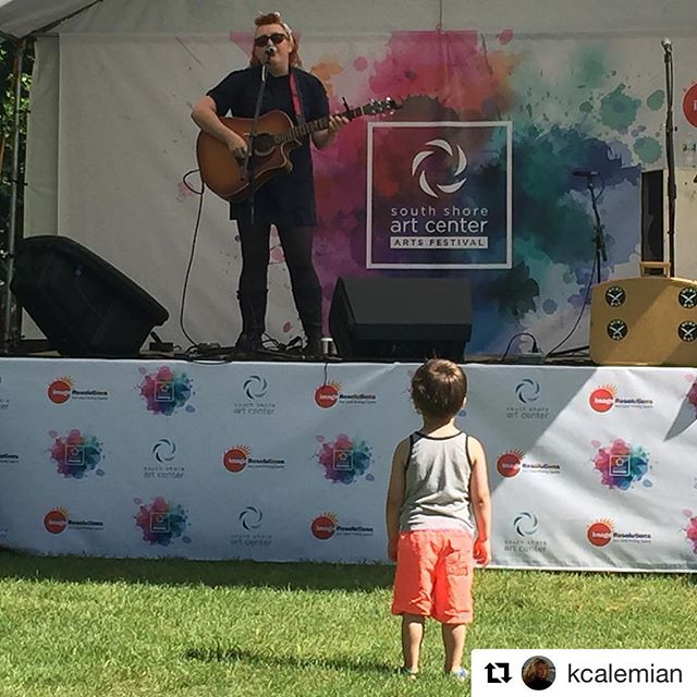 From yesterday's gig at _ssartcenter with a tiny new fan! Playing in-store tonight at _inclusionreco