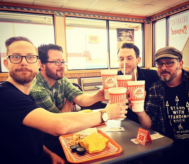 Post Good Show Whataburger #fortworth #tour #bands #rubyraetheuncanny #ktcu #radio #whataburger #the