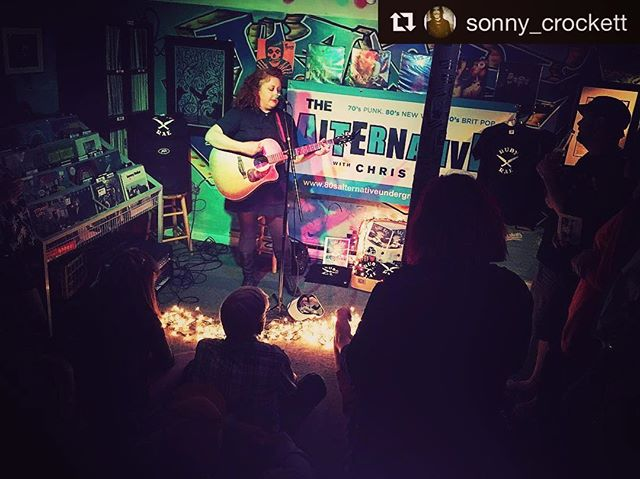 Another one from last night's show at Inclusion Records _ repost by _sonny_crockett ・・・_What a great