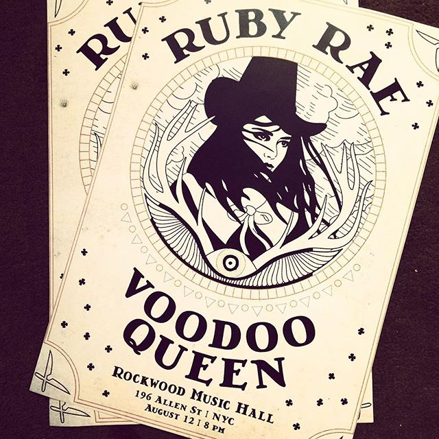 Gorgeous posters by _kardyology for the Voodoo Queen EP release party last August! Brand new album a