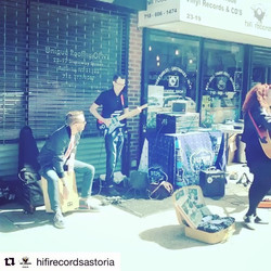 Super fun record store day at _hifirecordsastoria! Thanks Javi! 😎 #recordstoreday2018 #repost #ruby