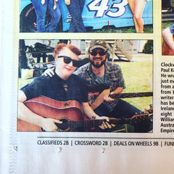 Hey! I'm in the Sullivan Democrat paper today in the piece on the Roscoe Singer Songwriter Festival