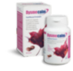Dysmecalm food supplement that helps in the balance of the female cycle. It helps to reduce the symptoms of dysmenorrhea