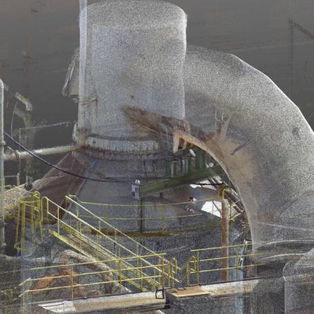 Diseño a medida con LiDAR: Piping en industria celulósica, modelado de pipetas.