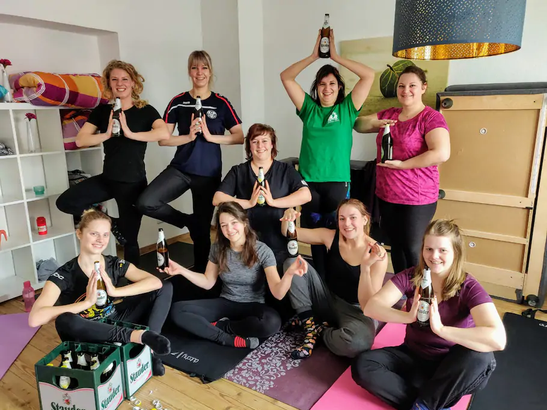 Bier Yoga in Düsseldorf
