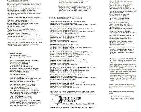 NANCI repress Austin lyrics insert B (2)
