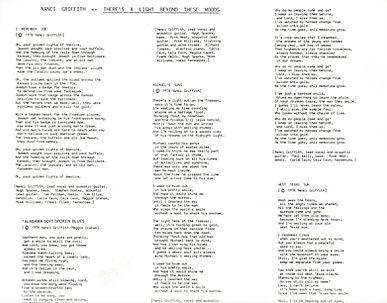 NANCI repress Houston issue lyrics inser