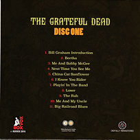 FILLMORE WEST CLOSING disc #1 back cover