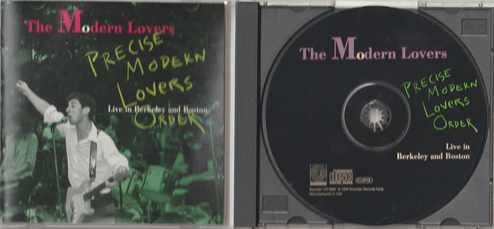 MODERN signed CD disc + front cover & ti