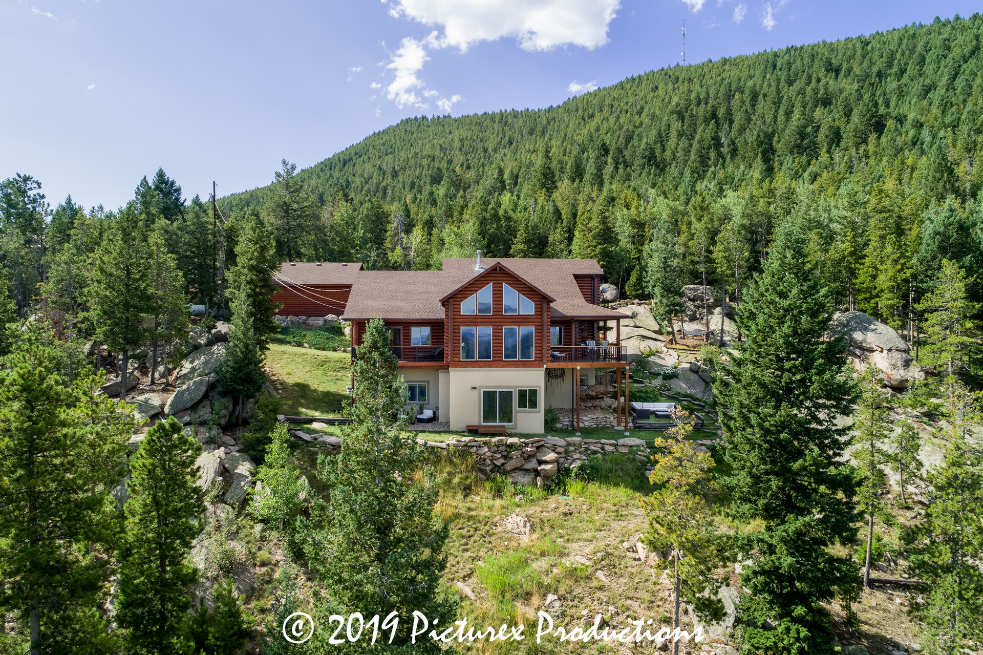 Mountain log home