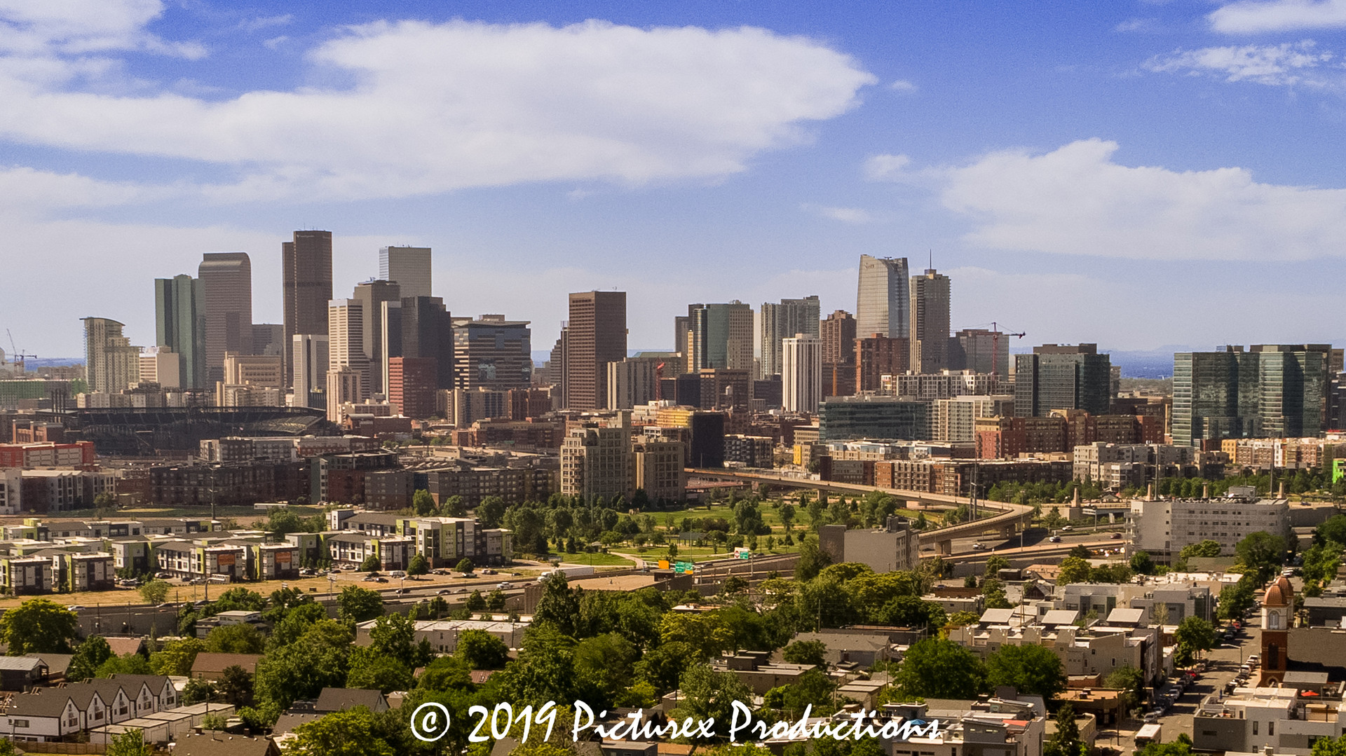 Denver City view from the west...