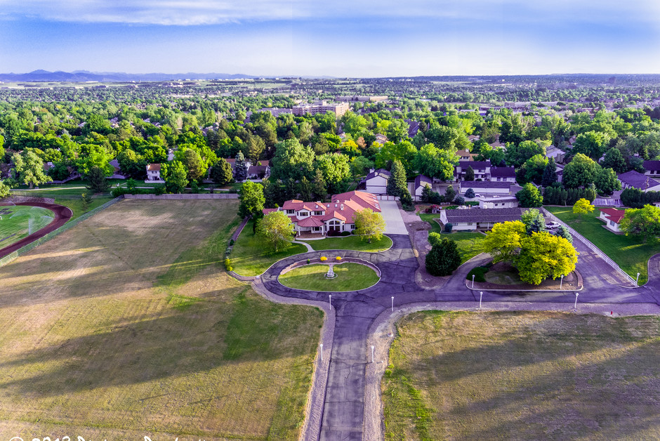 Property at 150 ft w/sky effect