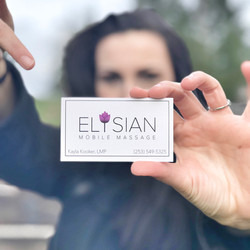 Elysian Mobile Massage Business Card