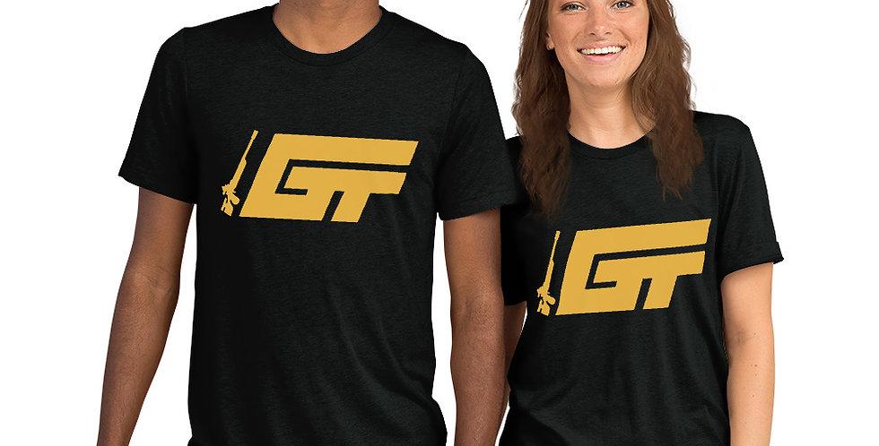 Gold GT Logo Unisex Tri-Blend T-Shirt (Multiple Colors Available)