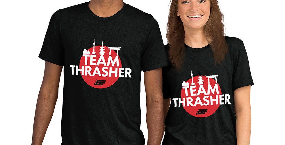 Black 'Team Thrasher' Unisex Tri-Blend T-Shirt