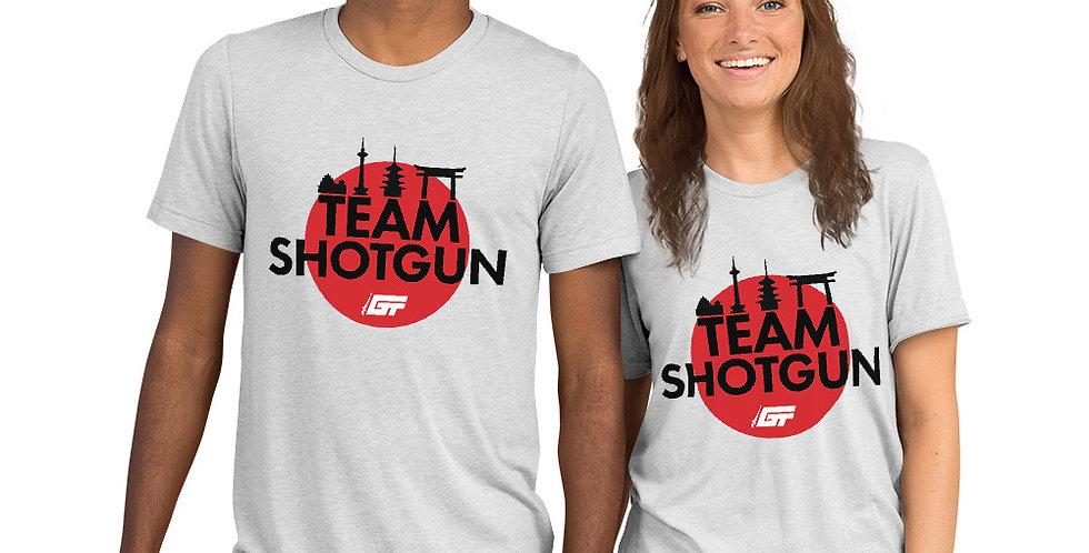 White 'Team Shotgun' Unisex Tri-Blend T-Shirt
