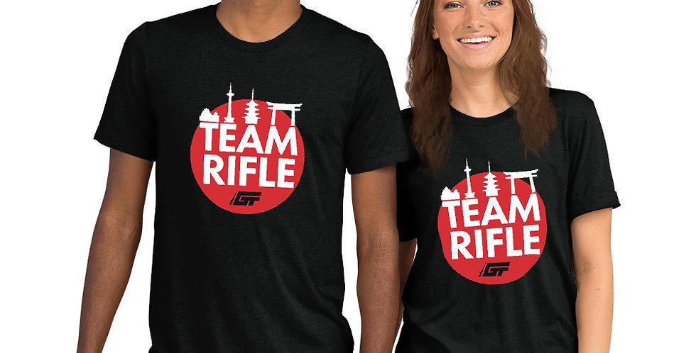 Black 'Team Rifle' Unisex Tri-Blend T-Shirt