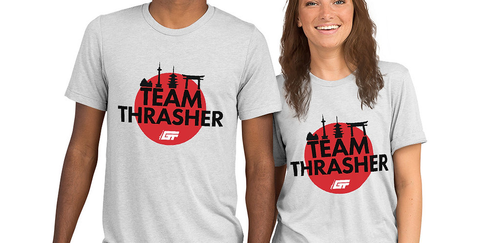 White 'Team Thrasher' Unisex Tri-Blend T-Shirt