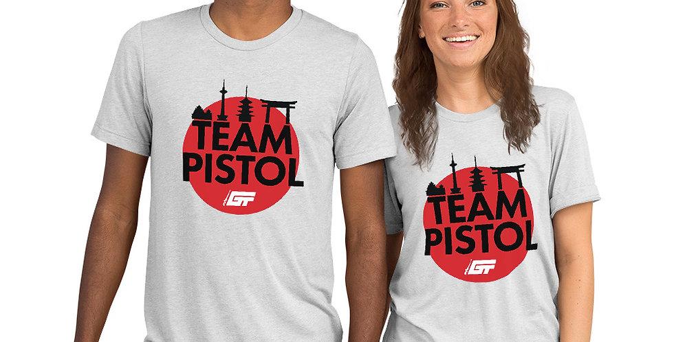 White 'Team Pistol' Unisex Tri-Blend T-Shirt